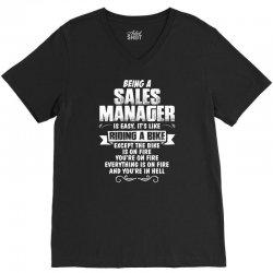 being a sales manager V-Neck Tee | Artistshot