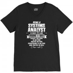 being a systems analyst V-Neck Tee | Artistshot