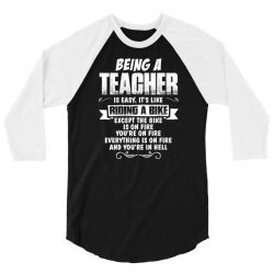 being a teacher 3/4 Sleeve Shirt | Artistshot