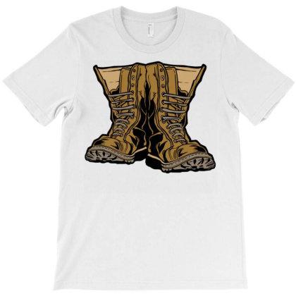 Military Boots T-shirt Designed By Zizahart