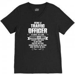 being a traffic officer V-Neck Tee | Artistshot