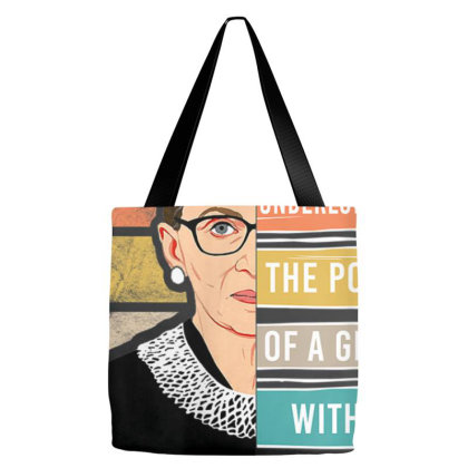 Never Underestimate The Power Of A Girl With Book Rbg Shirt T Shirt Tote Bags Designed By Nhan0105