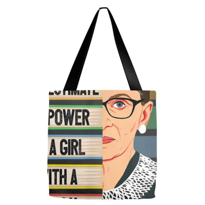 Feminist Ruth Bader Ginsburg Rbg Quote Girl With Book Women T Shirt Tote Bags Designed By Nhan0105
