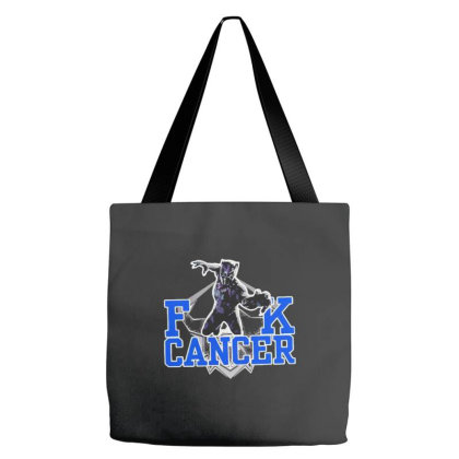 Black Panther Fuck Cancer Tote Bags Designed By Kakashop