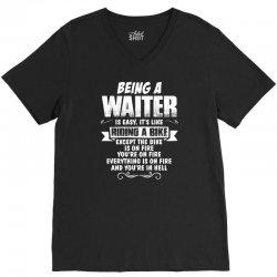 being a waiter V-Neck Tee   Artistshot