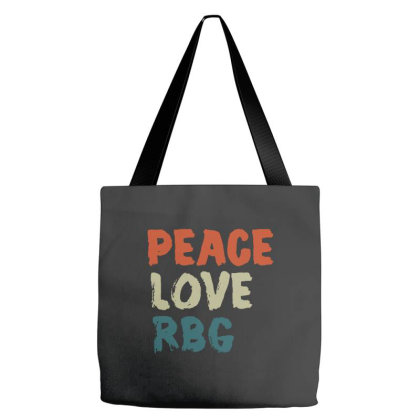 Peace Love Rbg Shirt Ruth Bader Ginsburg Retro Vintage Tote Bags Designed By Romeo And Juliet