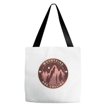 Mountains Calling Tote Bags Designed By Zizahart