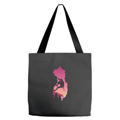 Mountain Climbing Tote Bags Designed By Zizahart