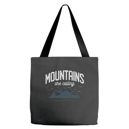 Mountains Are Calling Tote Bags Designed By Zizahart