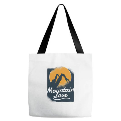 Mountain Love Tote Bags Designed By Zizahart