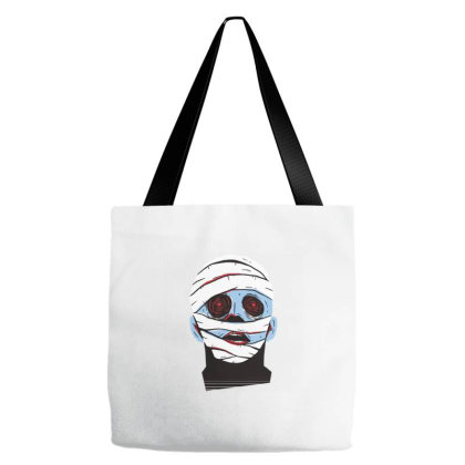 Mummy Face Tote Bags Designed By Zizahart