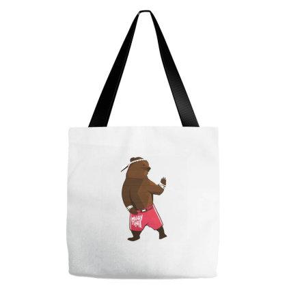 Muay Thai Bear Tote Bags Designed By Zizahart