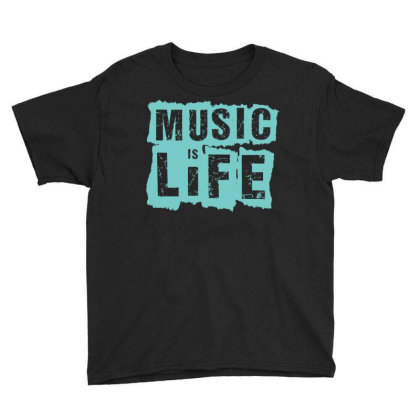 Music Is Life Youth Tee Designed By Zizahart