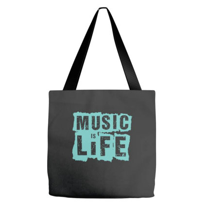 Music Is Life Tote Bags Designed By Zizahart