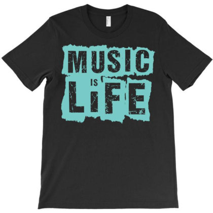 Music Is Life T-shirt Designed By Zizahart