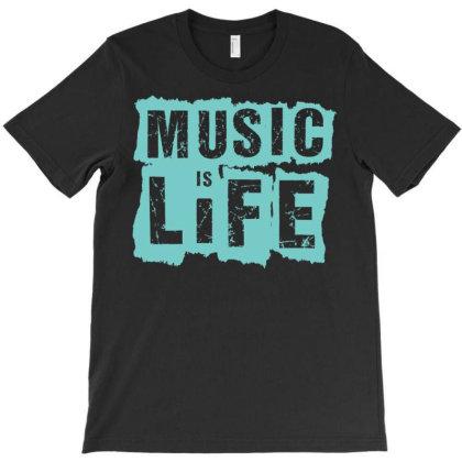 Music Is Life T-shirt Designed By Zizahart