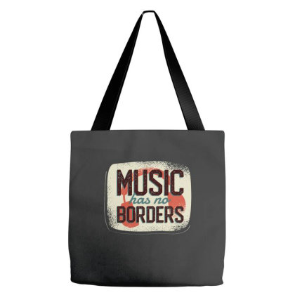 Music Has No Borders Tote Bags Designed By Zizahart