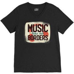 music has no borders V-Neck Tee | Artistshot