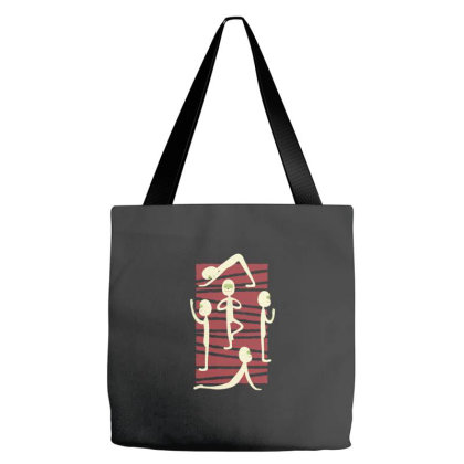 Mummy Yoga Tote Bags Designed By Zizahart
