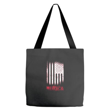 Murica American Flag Tote Bags Designed By Zizahart
