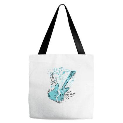 Music Guitar Tote Bags Designed By Zizahart
