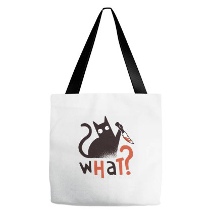 Murder Cat Tote Bags Designed By Zizahart