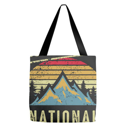 Vintage Retro Yellowstone National Park Tote Bags Designed By Roderick