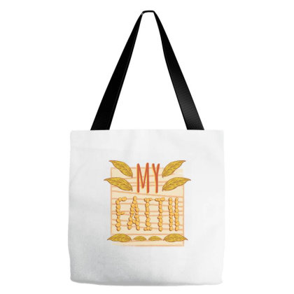 My Faith Tote Bags Designed By Zizahart