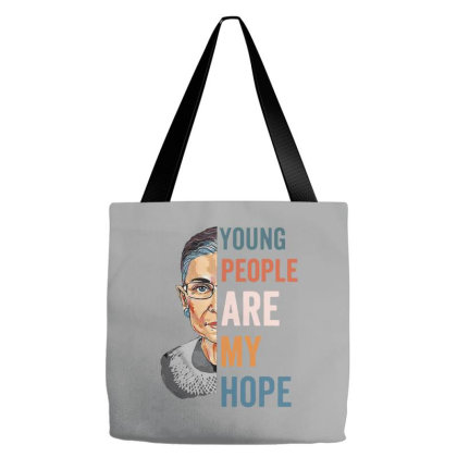 Ruth Bader Ginsburg Young People Are My Hope Tote Bags Designed By Smile 4ever
