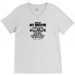 being an art director copy V-Neck Tee | Artistshot