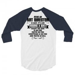 being an art director copy 3/4 Sleeve Shirt | Artistshot
