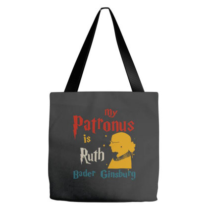 My Patronus Is Ruth Bader Ginsburg Tote Bags Designed By Smile 4ever