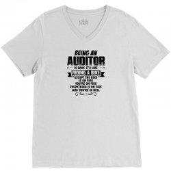 being an auditor copy V-Neck Tee | Artistshot