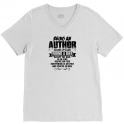 being an author copy V-Neck Tee | Artistshot