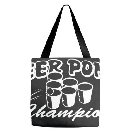 Beer Pong Champion Tote Bags Designed By Kingsart