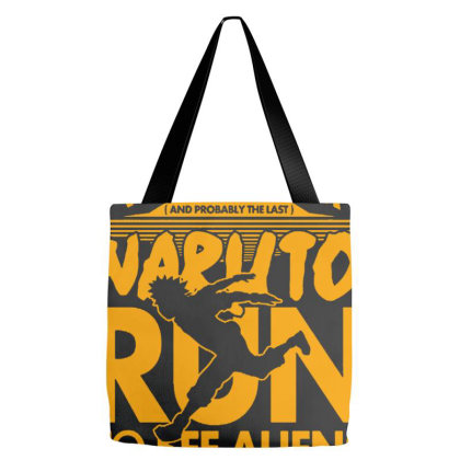 Naruto Run For Aliens Tote Bags Designed By Wethers