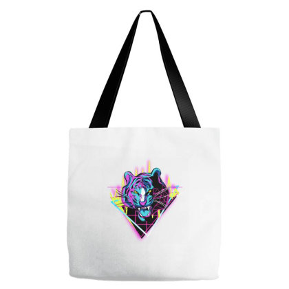 Neon Tiger Tote Bags Designed By Zizahart