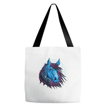 Neon Horse Tote Bags Designed By Zizahart