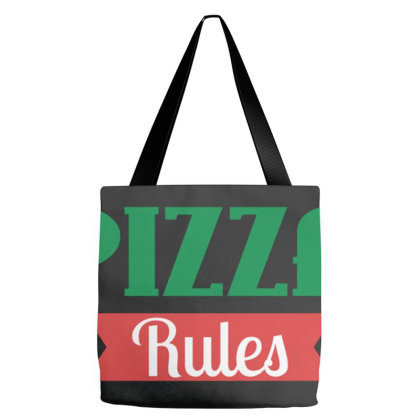 Pizza Rules Tote Bags Designed By Wethers