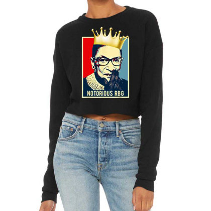 Women Notorious Rbg Cropped Sweater
