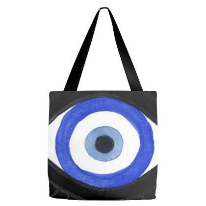 Evil Eye Tote Bags Designed By Mina Aksarani