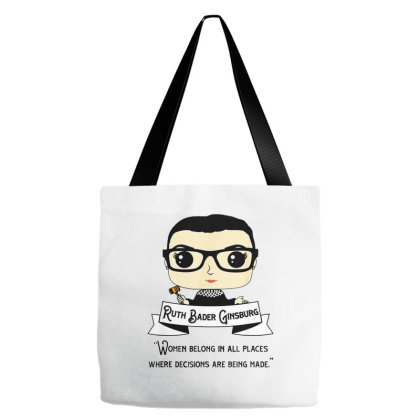 Cute Rbg Ruth Bader Ginsburg   Be Independent Feminist Tote Bags Designed By Kimochi