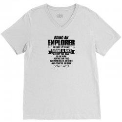 being an explorer copy V-Neck Tee   Artistshot