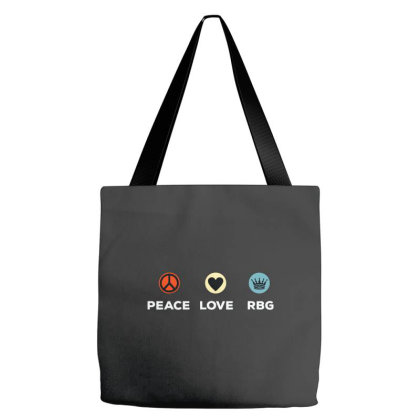 Peace Love Rbg Notorious Ruth Bader Ginsburg Tote Bags Designed By Kimochi