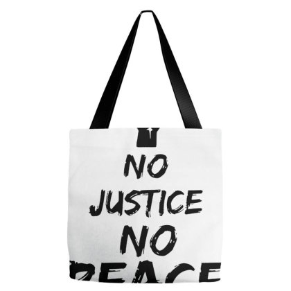 No Justice No Peace Tote Bags Designed By Naura Prisillya