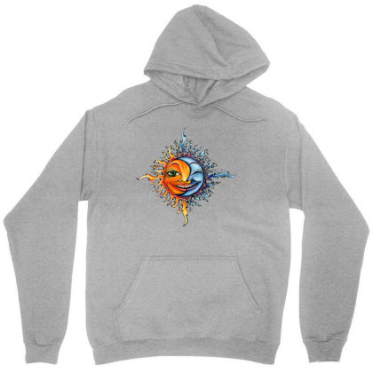 Sun And Moon Unisex Hoodie Designed By Mina Aksarani
