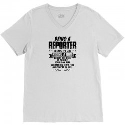 being an reporter copy V-Neck Tee | Artistshot