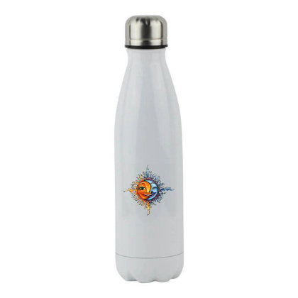 Sun And Moon Stainless Steel Water Bottle Designed By Gilaban
