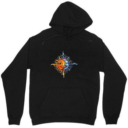 Sun And Moon Unisex Hoodie Designed By Gilaban