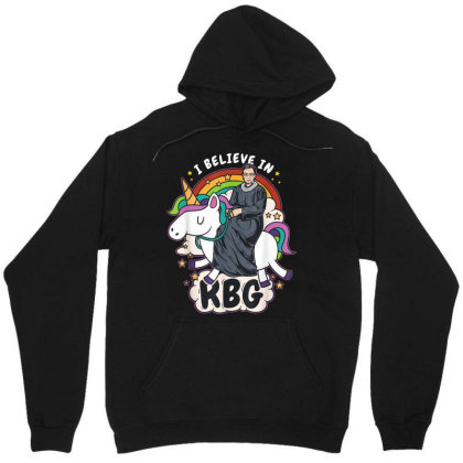 I Believe In Rbg Unicorn Feminist Unisex Hoodie Designed By Kakashop